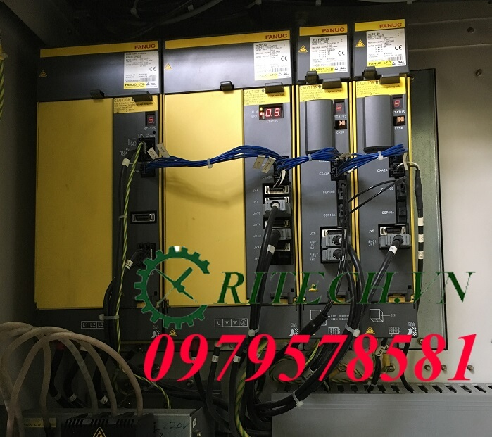 Tủ điện máy CNC báo lỗi bộ Spindle