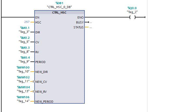 Lệnh lập trình đọc xung tốc độ cao HSC trên plc siemens s7-1200