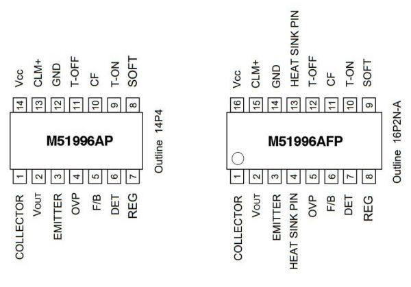 sơ đồ chân IC nguồn m51996