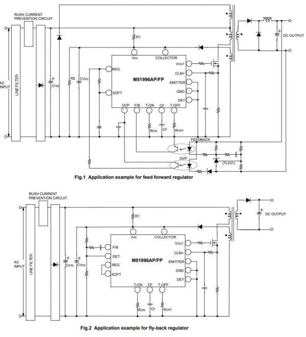 Mạch ứng dụng của M51996