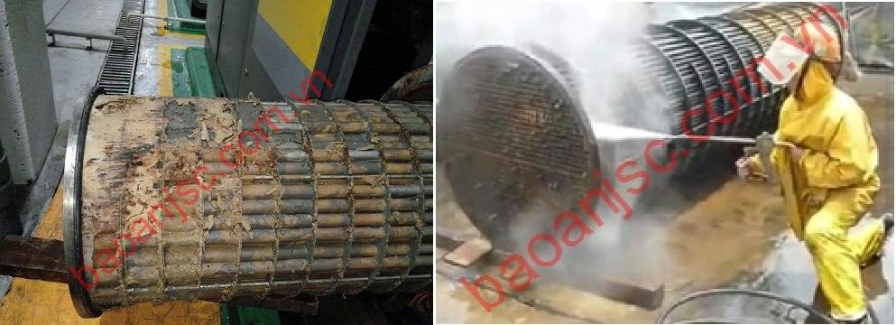 Vệ sinh thiết bị trao đổi nhiệt dạng ống