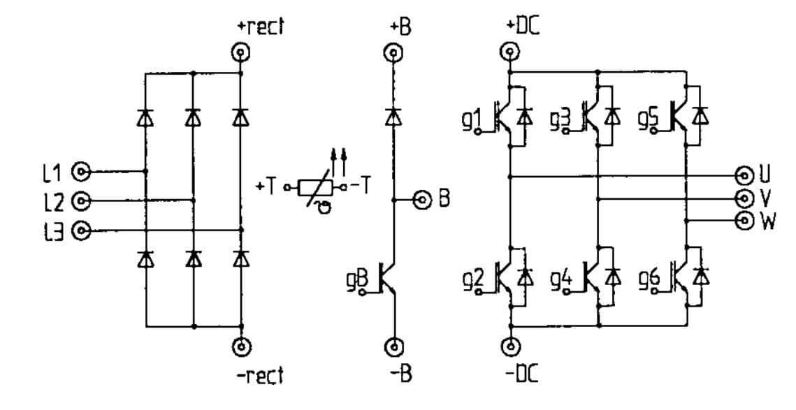 Cấu tạo của IGBT SKIIP31NAB12T11