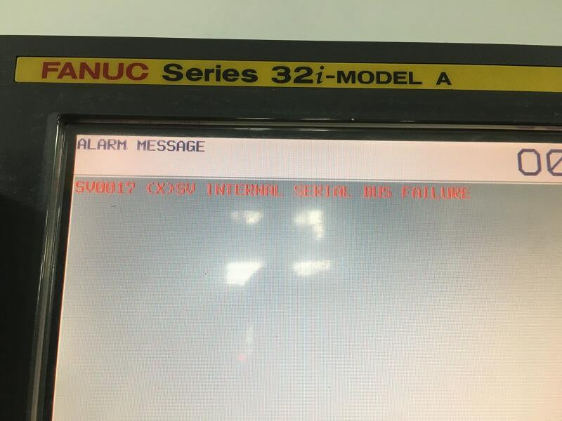 Màn hình máy CNC Fanuc báo lỗi SV0017