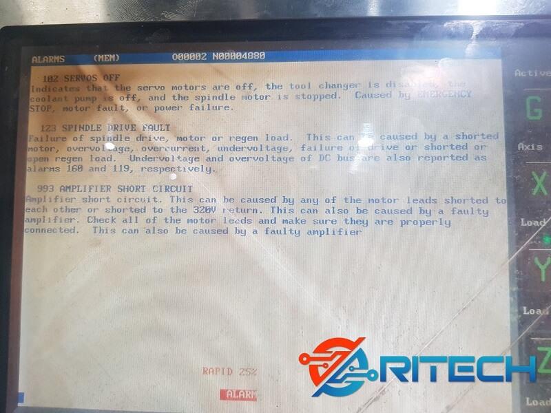 Lỗi màn hình máy CNC HAAS