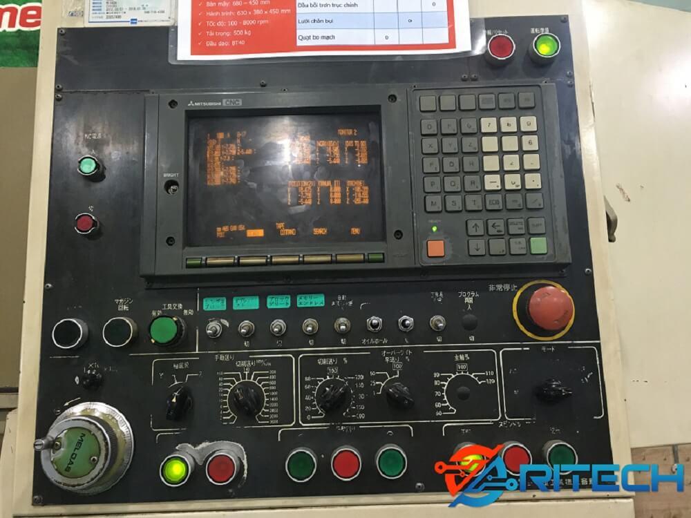 Kiểm tra lỗi trên màn hình máy CNC Mitsubishi