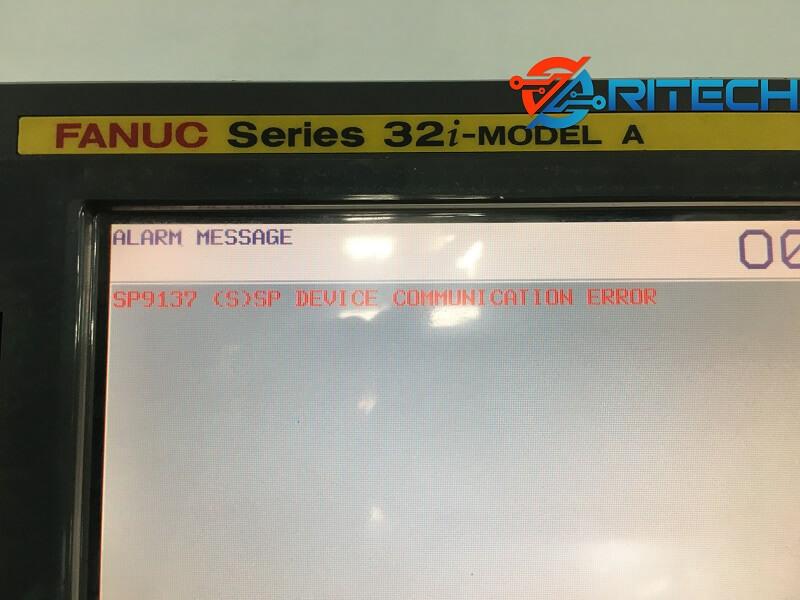 Màn hình CNC Fanuc báo lỗi SP9137