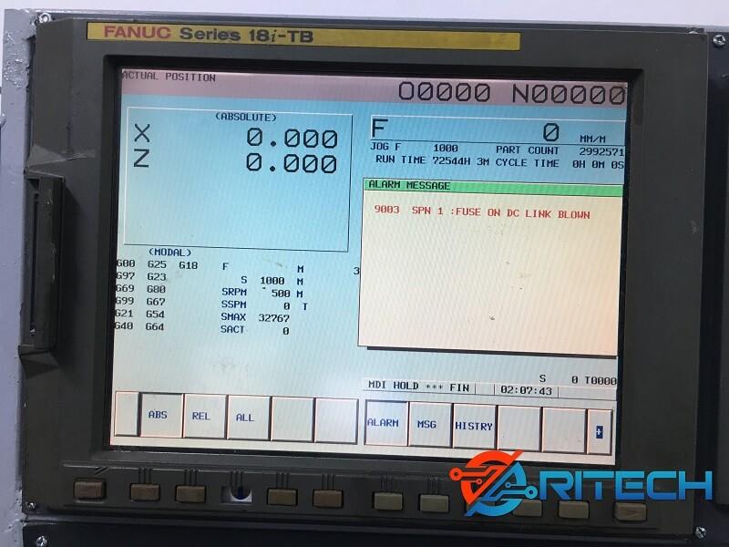 Màn hình máy CNC Fanuc báo lỗi 9003
